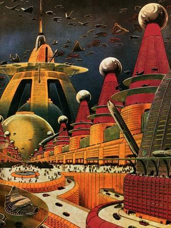 Sci Fi - Future Atomic City, 1942 by Frank R. Paul