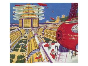 Sci Fi - Futuristic City, 1934 by Frank R. Paul