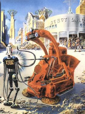 Sci Fi - Futuristic Robots, 1953 by Frank R. Paul