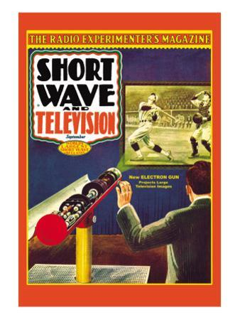 Short Wave and Television: New Electronic Gun Projects Large Television Images by Frank R. Paul