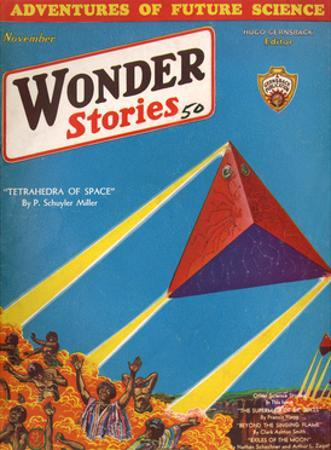 Tetrahedra of Space' by Frank R Paul