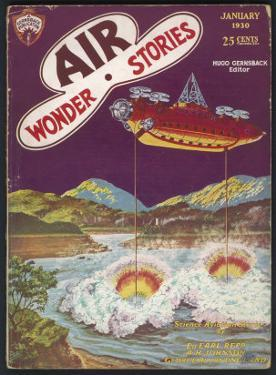 The Thunderer (A Typical Mad Scientist) Dries up a Lake by Frank R. Paul