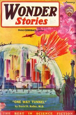 Wonder Stories, NY Dome by Frank R Paul