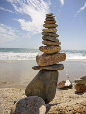 Rocks Balancing at the Beach, Aquinnah, Martha's Vineyard, Ma by Frank Rapp