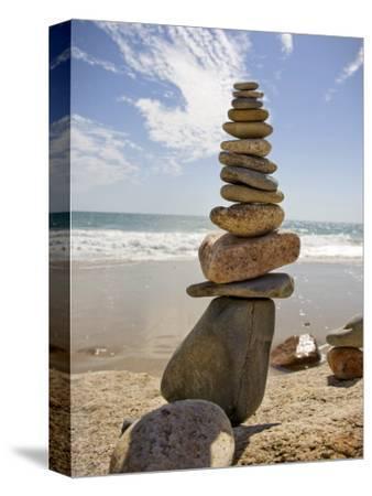 Rocks Balancing at the Beach, Aquinnah, Martha's Vineyard, Ma