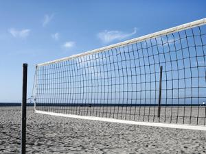 Empty Volleyball Field on the Beach by Frank Rothe