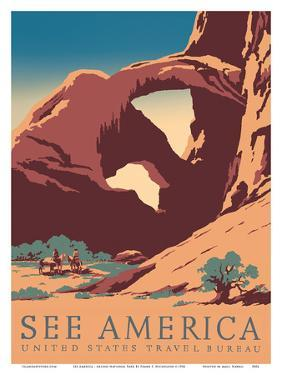 See America - Arches National Park - United States Travel Bureau by Frank S. Nicholson
