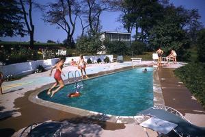 1959: Mrs. Wilbur S. Forrest's Pool in New Hope, Pa., a Treat for Her Eight Grandchildren by Frank Scherschel