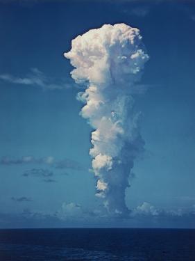 Atomic Bomb Mushroom Cloud After Test at Bikini Island by Frank Scherschel