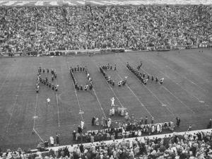 Navy vs. Notre Dame Football Game Half Time Tribute to its Legendary Coach, the Late Knute Rockne by Frank Scherschel