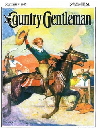 """""""Rodeo Riders,"""" Country Gentleman Cover, October 1, 1927"""