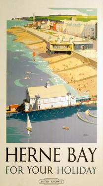 Herne Bay for your Holiday, BR (SR), c.1948 by Frank Sherwin