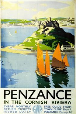 Penzance in the Cornish Riviera, c.1935 by Frank Sherwin
