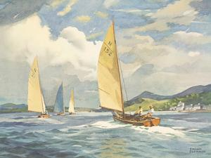Sailing Dinghies on the Clyde by Frank Sherwin