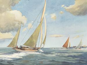 Sailing in the Solent by Frank Sherwin