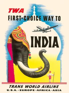 First Choice Way to India - TWA (Trans World Airlines) by Frank Soltesz