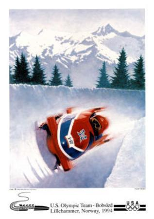 U.S. Olympic Team Bobsled Lillehammer, c.1994 by Frank Steiner