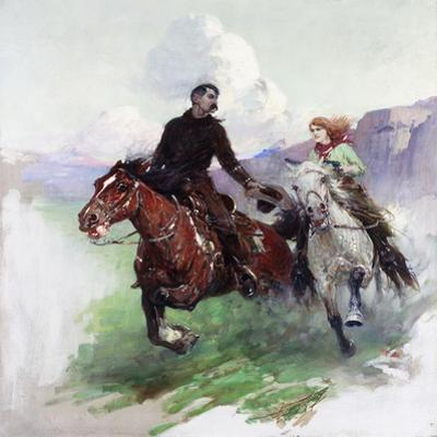 Riding Hard with Two Shooters, 1919