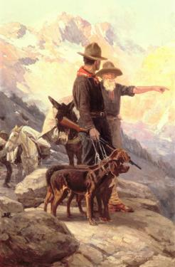 The Mountain Hunt, 1917 by Frank Tenney Johnson