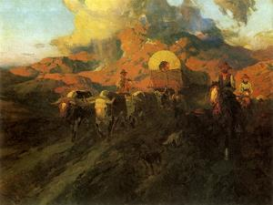 The Overland Trail, 1926 by Frank Tenney Johnson