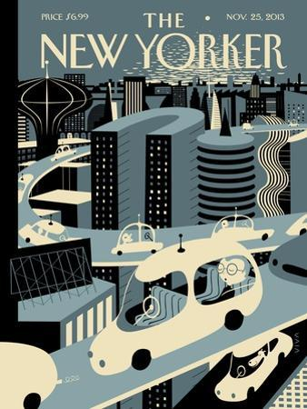 Asleep at the Wheel - The New Yorker Cover, November 25, 2013