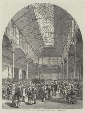 New Flower Market, Covent Garden, in Course of Construction by Frank Watkins