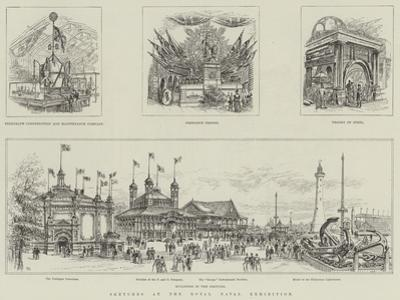Sketches at the Royal Naval Exhibition by Frank Watkins