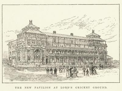 The New Pavilion at Lord's Cricket Ground by Frank Watkins