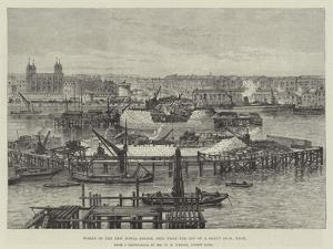 Works of the New Tower Bridge, Seen from the Top of a Shaft 100Ft High by Frank Watkins
