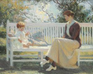 Eleanor and Benny, 1916 by Frank Weston Benson