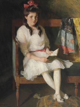 Portrait of Gertrude Russell, 1915 by Frank Weston Benson