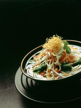 Japanese Noodle Soup (Miso Udon) with Fried Ginger by Frank Wieder