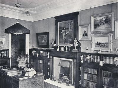 'Library of Captain Harvey, Hampstead', c1903