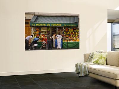 Le Marche De Turenne Fruit and Vegetable Shop on Rue Turenne in the Marais Near Place Des Vosges