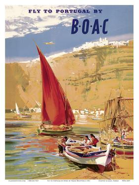 Fly to Portugal - by BOAC (British Overseas Airways Corporation) by Frank Wooton