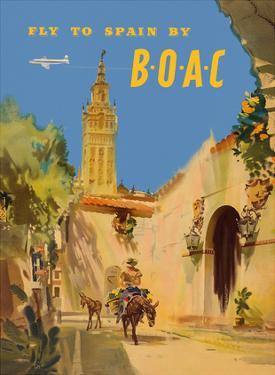 Fly to Spain - by BOAC (British Overseas Airways Corporation) by Frank Wooton