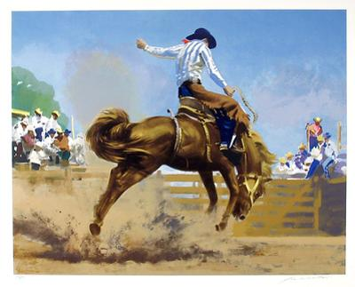 Bucking Bronco by Frank Wootton