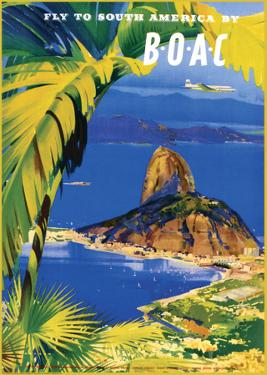 Fly to South America by BOAC by Frank Wootton