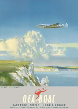 The White Cliffs of Dover, England - Kangaroo Service Sydney to London by Frank Wootton