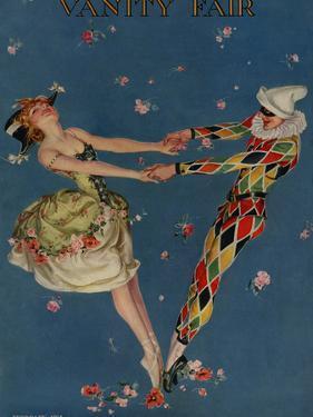 Vanity Fair Cover - February 1914 by Frank X. Leyendecker
