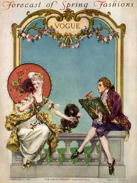 Vogue Cover - February 1914 by Frank X. Leyendecker