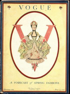 Vogue Cover - February 1917 by Frank X. Leyendecker