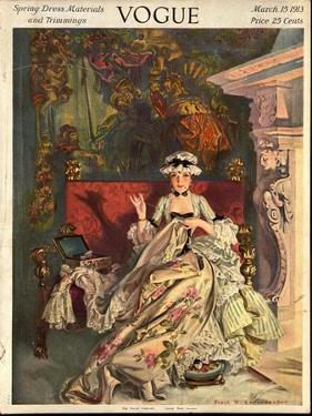 Vogue Cover - March 1913 by Frank X. Leyendecker