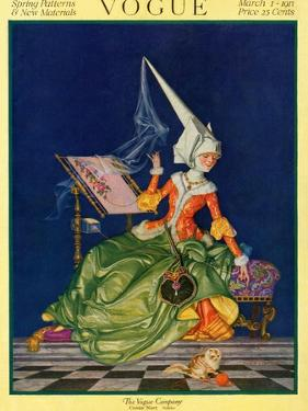 Vogue Cover - March 1917 by Frank X. Leyendecker