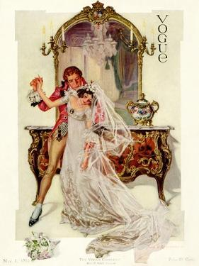 Vogue Cover - May 1912 by Frank X. Leyendecker
