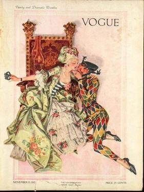 Vogue Cover - November 1912 by Frank X. Leyendecker