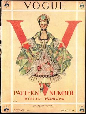 Vogue Cover - October 1911 by Frank X. Leyendecker