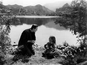 FRANKENSTE 1931 directed by JAMES WHALE Boris Karloff and Marilyn Harris (b/w photo)