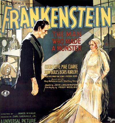 Frankenstein, Boris Karloff, Mae Clarke, 1931