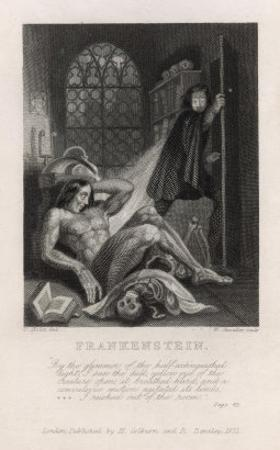 Frankenstein Frontispiece from Mary Shelley's Novel
